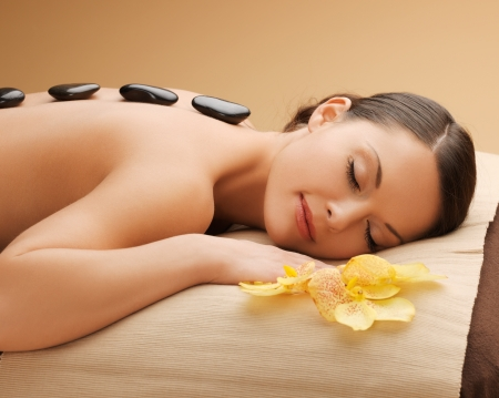 picture of beautiful woman in spa salon Stock Photo - 17540200
