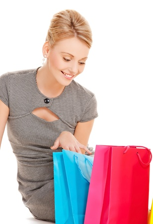 picture of lovely woman with shopping bags Stock Photo - 17632227
