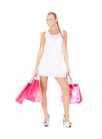picture of lovely woman with shopping bags Stock Photo - 17632326