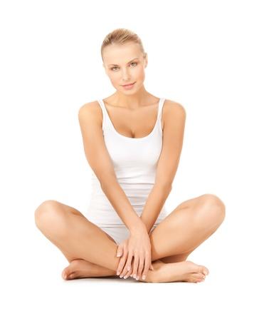 woman underwear: picture of beautiful woman in cotton underwear Stock Photo