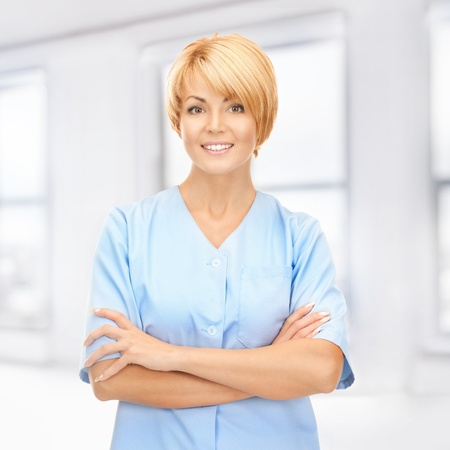 bright picture of attractive female doctor Stock Photo - 17758696