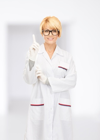 bright picture of attractive female doctor Stock Photo - 17758713