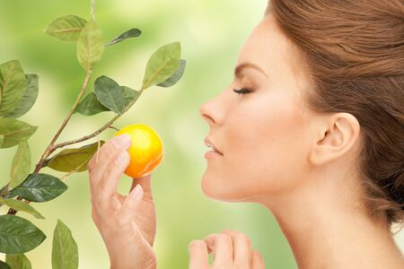 picture of lovely woman with lemon twig Stock Photo - 17758688