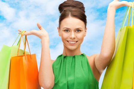 picture of lovely woman with shopping bags Stock Photo - 17758694