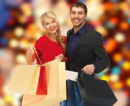 picture of lovely woman with shopping bags  Stock Photo - 17758674