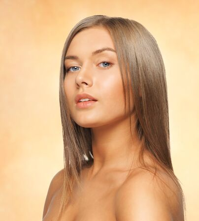bright picture of beautiful woman with long hair Stock Photo - 17758682