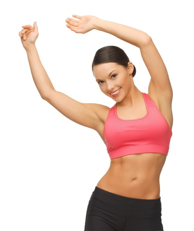 picture of beautiful sporty woman doing exercise Stock Photo - 17758712