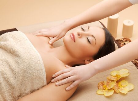 picture of calm beautiful woman in massage salon Stock Photo - 17758686