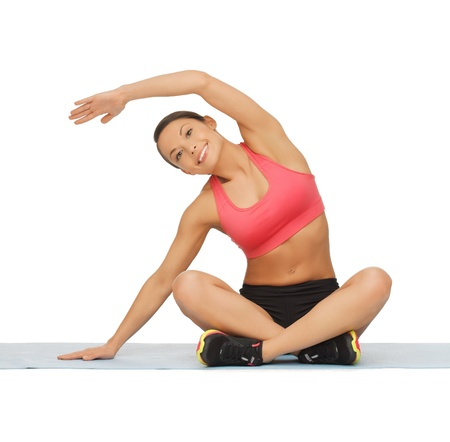 picture of beautiful sporty woman doing exercise Stock Photo - 17758669