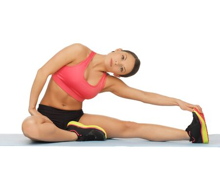 picture of beautiful sporty woman doing exercise Stock Photo - 17758668