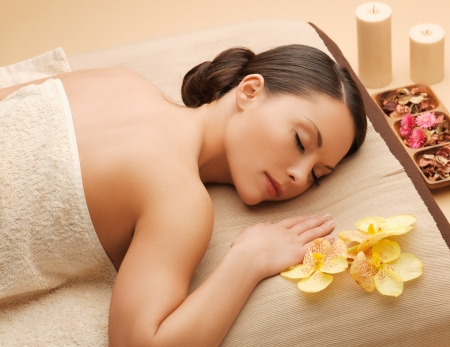 picture of beautiful woman in spa salon Stock Photo - 17758698