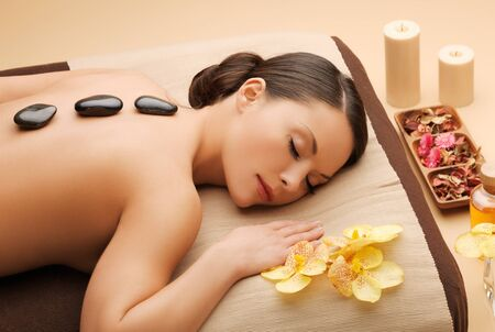 beauty treatment clinic: picture of beautiful woman in spa salon