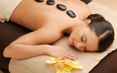 picture of beautiful woman in spa salon Stock Photo - 17758697