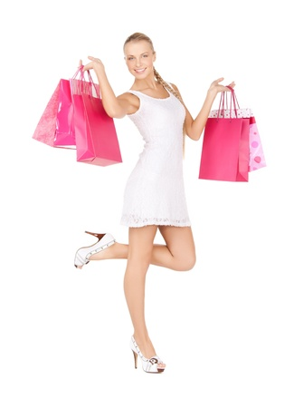 picture of lovely woman with shopping bags  Stock Photo - 17758667