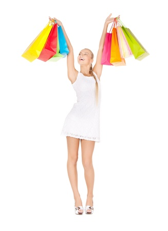 picture of lovely woman with shopping bags Stock Photo - 17758664