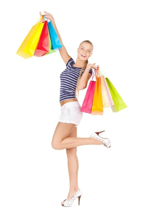 picture of lovely woman with shopping bags Stock Photo - 17758673
