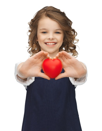 pre adolescent girl: picture of beautiful girl with small heart