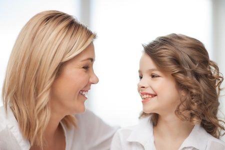 bright closeup picture of mother and daughter Stock Photo - 17791871
