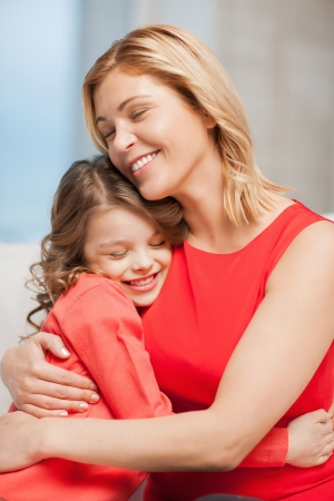 bright picture of hugging mother and daughter Stock Photo - 17792096