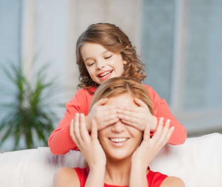 picture of mother and daughter making a joke Stock Photo - 17791891