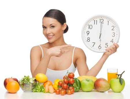 nice food: картина красивая женщина с большими часами