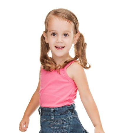 pre teen: picture of beautiful litle girl in casual clothes Stock Photo