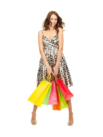 picture of lovely woman with shopping bags Stock Photo - 17861609