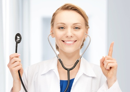 picture of attractive female doctor with stethoscope Stock Photo - 17972649