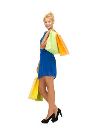 picture of happy teenage girl with shopping bags Stock Photo - 17972618