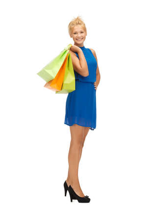 picture of happy teenage girl with shopping bags Stock Photo - 17972619