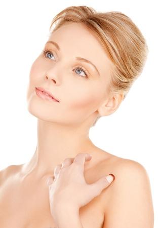 bright closeup portrait picture of beautiful woman Stock Photo - 18004889