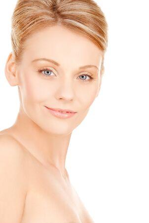 bright closeup portrait picture of beautiful woman Stock Photo - 18004885