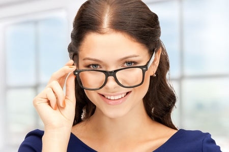 closeup picture of lovely woman in spectacles Stock Photo - 18004978