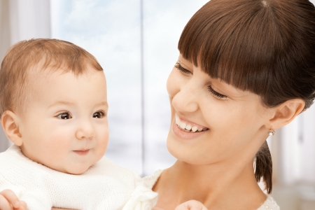 picture of happy mother with adorable baby Stock Photo - 18004887