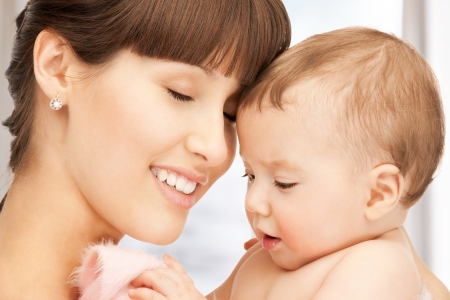 picture of happy mother with adorable baby Stock Photo - 18004921