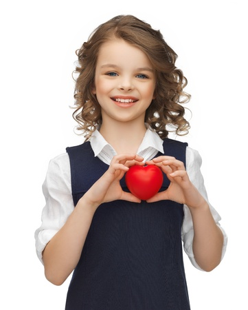 beautiful preteen girl: picture of beautiful girl with small heart