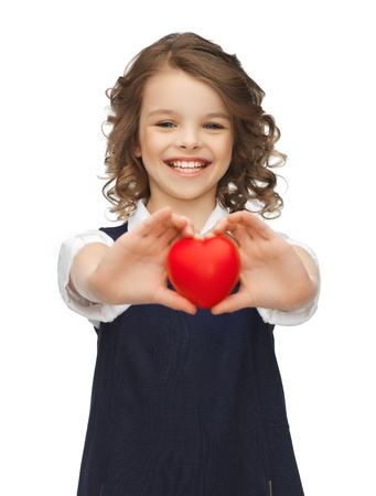 pre adolescent girls: picture of beautiful girl with small heart