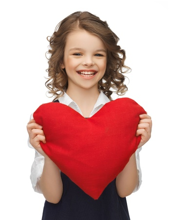picture of beautiful girl with big heart photo