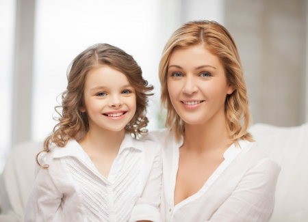 bright closeup picture of mother and daughter Stock Photo - 18160973