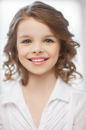 picture of beautiful pre-teen girl at home photo