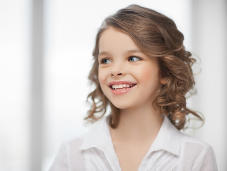 pre adolescent girls: picture of beautiful pre-teen girl at home Stock Photo