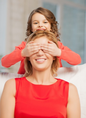 picture of mother and daughter making a joke Stock Photo - 18161081