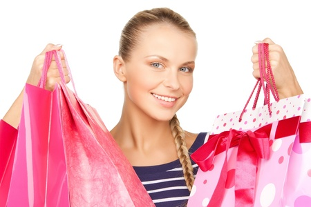 picture of lovely woman with shopping bags Stock Photo - 18161034