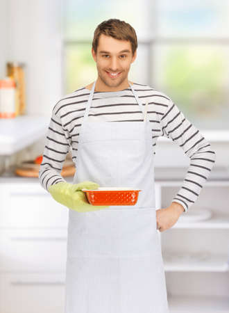 fireproof: bright picture of cooking man in kitchen