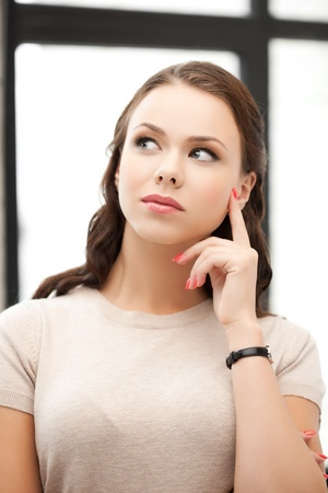 picture of calm and serious thinking woman Stock Photo - 18299801