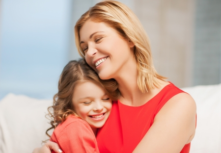 bright picture of hugging mother and daughter Stock Photo - 18299811