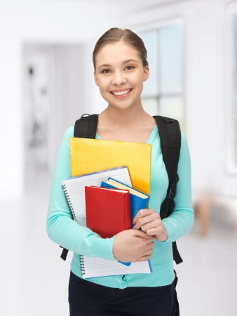 bright picture of happy and smiling teenage girl Stock Photo - 18365342
