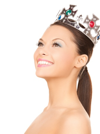 beauty contest: bright picture of beautiful woman with the crown