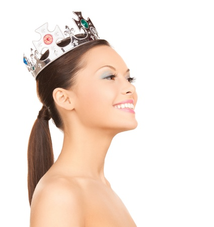 bright picture of beautiful woman with the crown photo