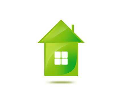 economize: illustration or closeup picture of green house
